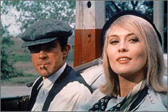 Young guns: Warren Beatty and Faye Dunaway in Bonnie and Clyde.