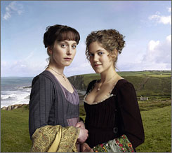 Restraint and passion: Elinor (Hattie Morahan, left) is the rational sister. Marianne (Charity Wakefield) is more emotional.