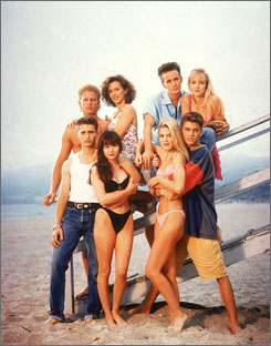Beverly High bums: The old clique may not show up in CW's spinoff, but there?s talk of reuniting in 2010. Clockwise from top left: Ian Ziering, Gabrielle Carteris, Luke Perry, Jennie Garth, Brian Austin Green, Tori Spelling, Shannen Doherty, Jason Priestley.
