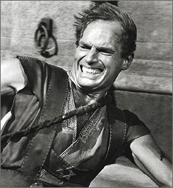 Heston earned an Oscar for his work in 1959's Ben-Hur. It was the sole nomination of his career, though he also won a humanitarian prize at the 1978 Academy Awards.