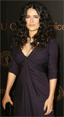 """I know how much women suffer"": Salma Hayek will take part in the V-Day festivities."