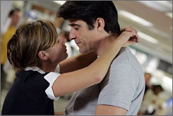 Early goodbyes: Maura Tierney and Goran Visnjic won't stay to the end.