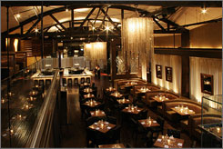Shimmering interior: Beso has lots of chandeliers, and  the menu features some of Eva Longoria Parker's dishes.