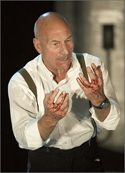  Make it so: Patrick Stewart has the titular role in a modernistic Macbeth, now on Broadway.