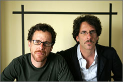 Coen brothers: Ethan, left and Joel deliver Burn After Reading.