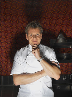 Hot: Hell's chef Gordon Ramsay. 