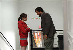 Debating dad: Ellen Page plays Dennis Quaid's sassy daughter, who develops a surprising crush on his slacker brother.