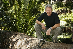  New adventure: Harrison Ford, photographed in the woods of Temescal Canyon in California, says he had no trouble stepping into the character of Indiana Jones again.