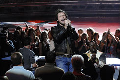Shocking exit: Michael Johns was the first to sing on the performance night preceding his elimination.