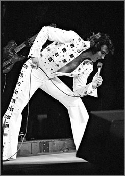 Elvis Presley performs at Madison Square Garden in June 1972.