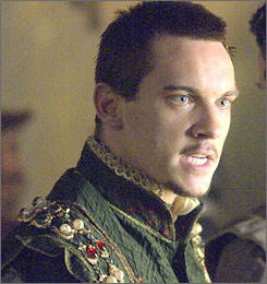 Jonathan Rhys Meyers stars as  the lusty Henry VIII in The Tudors.