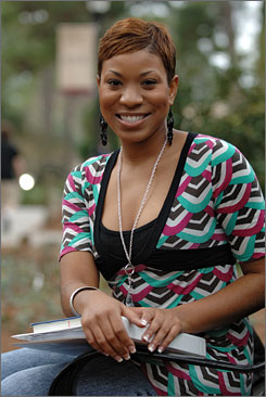 Back to the books: Stephanie Edwards attends Armstrong Atlantic State University.
