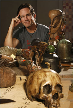 Survivor souvenirs: Host Jeff Probst always keeps the snuffer used during the elimination  ceremonies, like the skull version from the 12th installment, Panama  Exile Island.