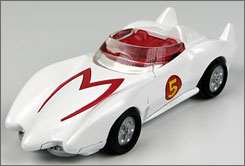 Miniature Mach 5: Hot Wheels gets in  on tie-ins for Speed Racer, out May 9.