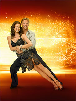 Shannon Elizabeth, with partner Derek Hough, is the latest celeb to get the boot on Dancing With the Stars.
