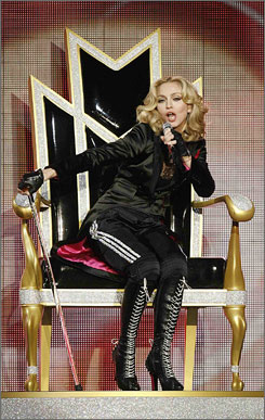 Though she opened her Hard Candy tour in a club, Madonna spared fans none of the spectacle of her arena shows.