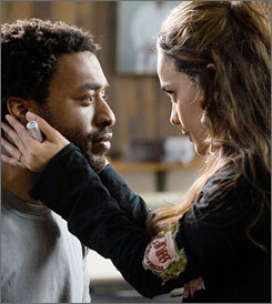 Love, conflict: Chiwetel Ejiofor is a fighter; Alice Braga is his wife.