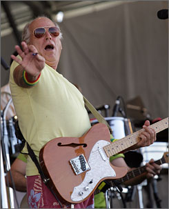 """It's good to be home,"" said Jimmy Buffett, who plays Jazz Fest every two years."