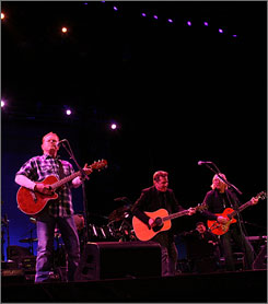 True to their roots: The Eagles perform Friday at Stagecoach, California's country music festival. The event is in its second year.