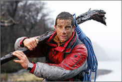 Wild man: Bear Grylls, on location in Patagonia, Argentina, knows how to survive in the wilderness on Discovery Channel's Man vs. Wild.