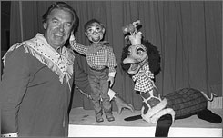 Time flies: Buffalo Bob Smith, left, Howdy Doody and Flub-A-Dub.