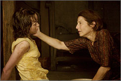 In her clutches: Sylvia (Ellen Page) is at the mercy of  the merciless Gertie Baniszewski (Catherine Keener).