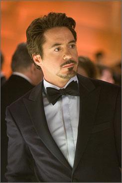 Dapper dude: Robert Downey Jr. plays the witty Iron Man.