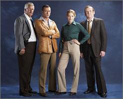 Lenny Clarke, Jason O'Mara, Rachelle Lefevre and Colm Meaney star in Life on Mars.
