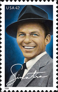 Frank Sinatra has also been commemorated on a postage stamp.