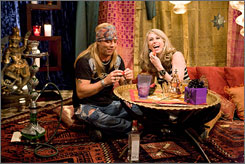 A love connection: Bret Michaels and Ambre Lake, the winner of Season 2 of Rock of Love With Bret Michaels.