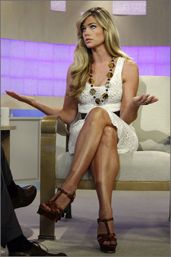 What else can I say?: Denise Richards discusses her custody  battle and new show during a Today interview Wednesday.