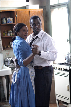 Racial tensions: Audra MacDonald and Sean Combs in A Raisin in the Sun.