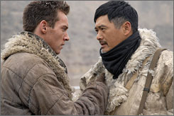 In 1930s: Jonathan Rhys Meyers, left, and Chow Yun-Fat rescue orphans amid the Japanese invasion of China.