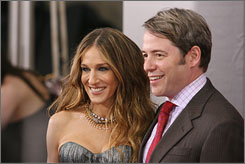 The star and her man: Sarah Jessica Parker and Matthew Broderick.