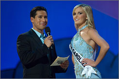 Brian freeze: Miss Teen USA South Carolina Lauren Caitlin Upton had a little trouble with Mario Lopez's question.