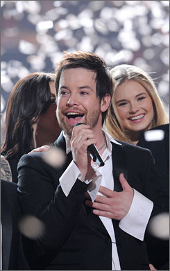 Winning smile: David Cook and Fox's Idol both come out on top.