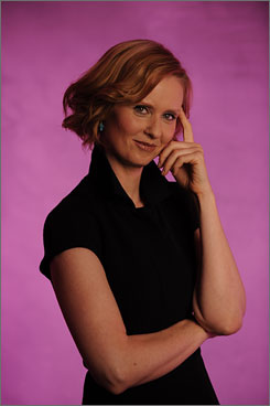 "Putting the sex in the City role: Cynthia Nixon says she has been getting a ""really big reaction"" to her hot scene with David Eigenberg."