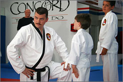 No defense against his Funnyman Style: Danny McBride stars as clueless suburban tae kwon do instructor Fred Simmons in The Foot Fist Way, which was a big hit at the 2006 Sundance Film Festival.