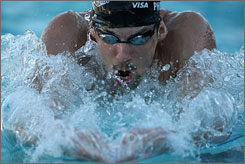 Going for history: U.S. swimmer Michael Phelps could win eight gold medals in Beijing.