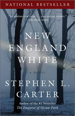 Stephen L. Carter's New England White is a murder mstery.