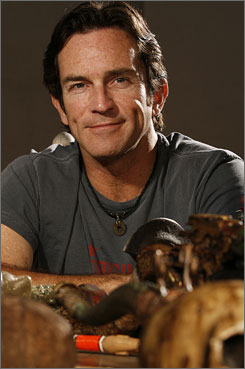 Survivor host Jeff Probst says shipping delays have plagued the 17th season, which is being shot in Gabon.