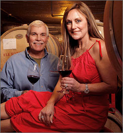 Olympian Peggy Fleming and husband, Greg Jenkins are members of a growing group of celebrities turned wine connoisseurs.
