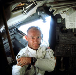 """A few of us still around to remember:"" Buzz Aldrin, the second man to walk on the moon."