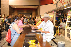 Rare opportunity: Alan Jackson signed autographs for two hours at the CMA Music Festival, something he hasn't done in at least 10 years.