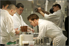 Cancer survivor and culinary star: Grant Achatz of Alinea in Chicago won the top Beard award.
