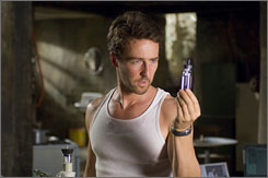Calm moment: Bruce Banner (Edward Norton) seeks a cure for his Hulkiness.