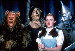 The American Film Institute has tagged The Wizard of Oz as the top fantasy film in Hollywood history.