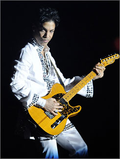 King of the stage: Prince rocked Coachella in April.