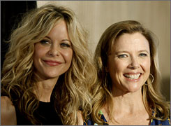 Meg Ryan and Annette Bening, who co-starred in The Women, were on hand to salute Crystal Award recipient Diane English, who wrote the film's screenplay.