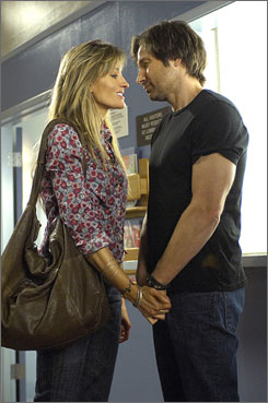 Reunited: McElhone  and Duchovny on Californication.